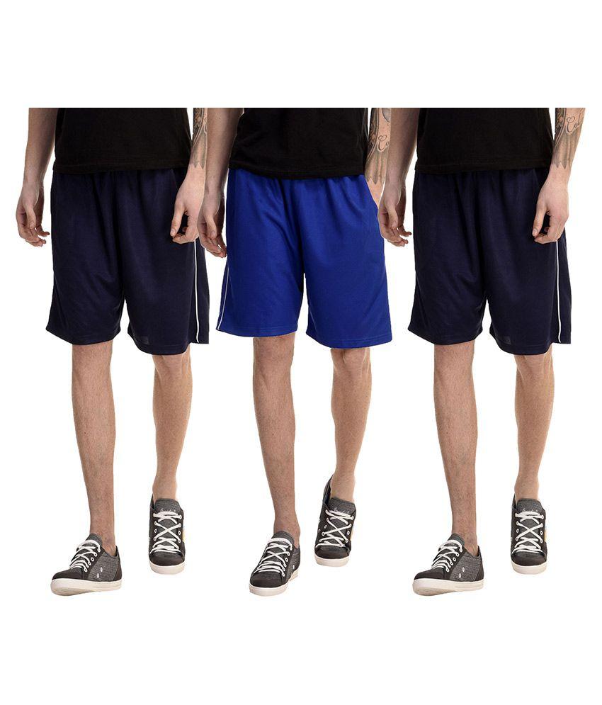 Meebaw Multi Shorts Pack of 3