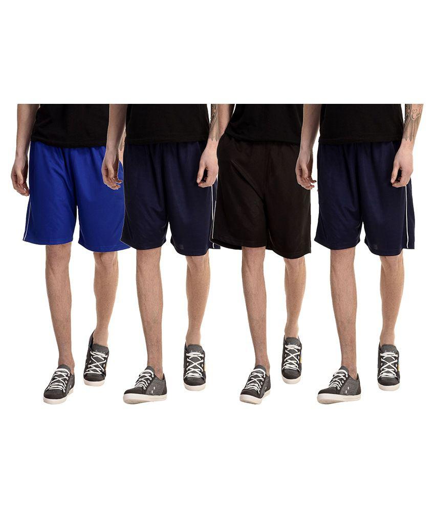 Meebaw Multi Shorts Pack of 4