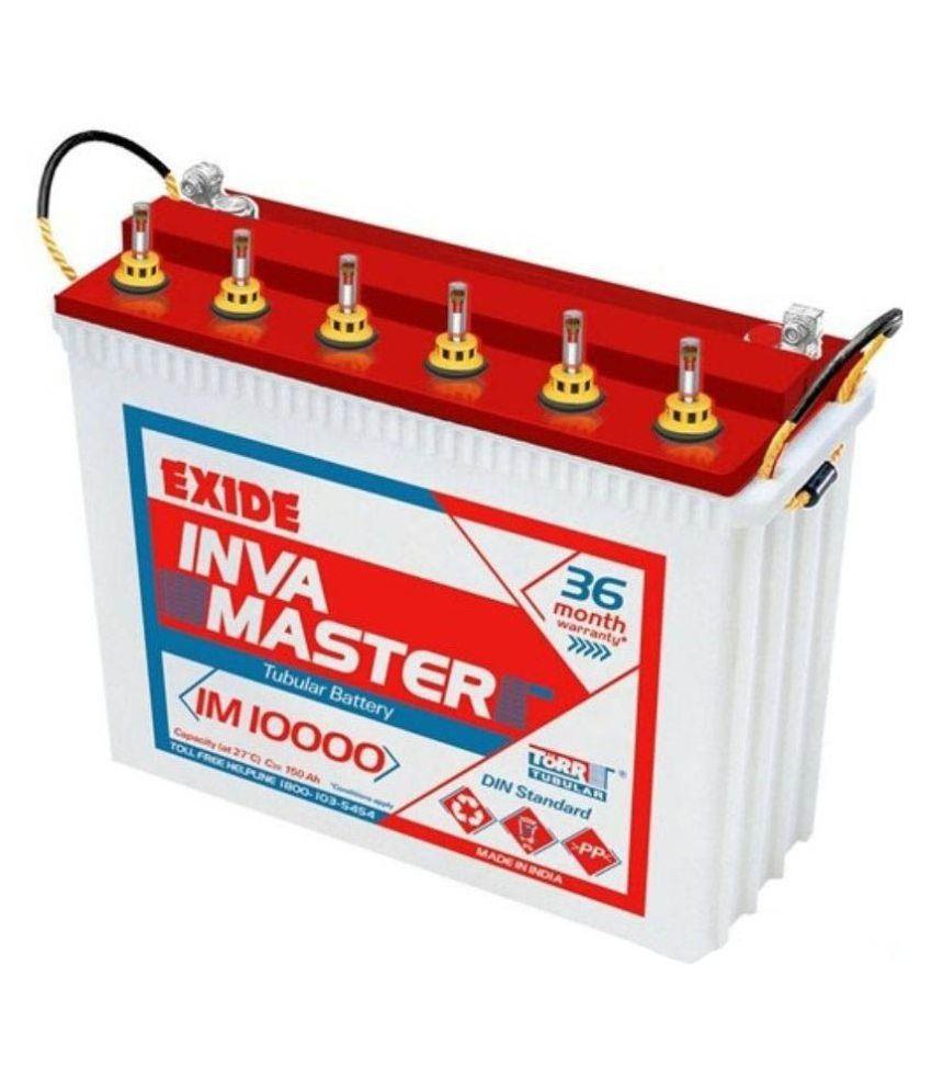 exide exide inva master im 10000 battery price in india. Black Bedroom Furniture Sets. Home Design Ideas