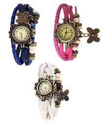 Glory Multicolour Analog Watches - Set of 3