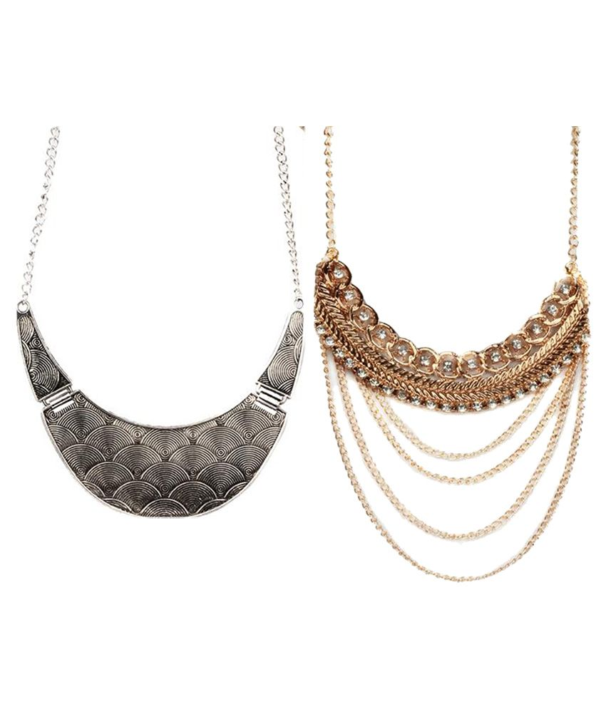 Jazz Jewellery Multicolor Necklace Set Combo - Pack of 2