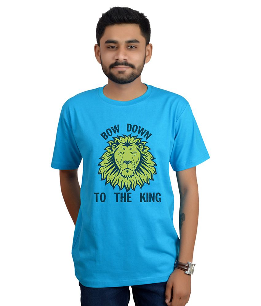 Swag Theory Blue Round T Shirt