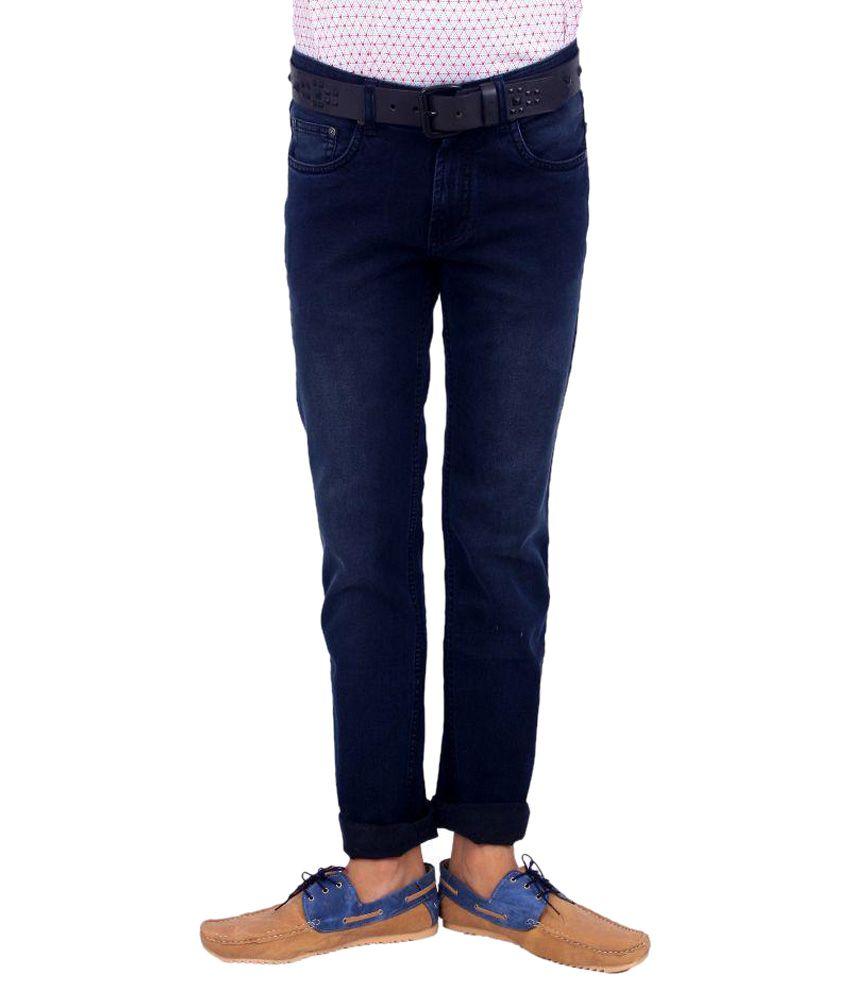 BOMBAY BLUES Blue Slim Fit Solid Jeans