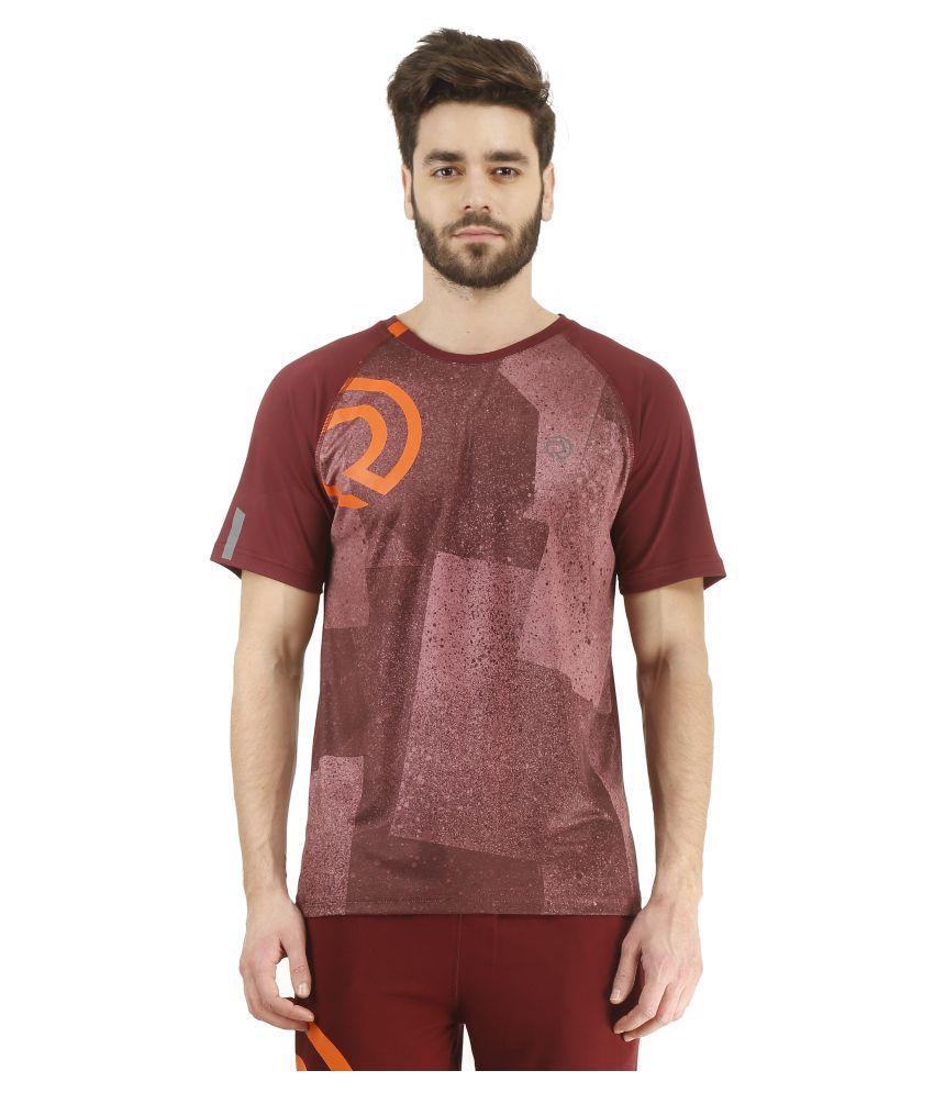 Revo Maroon Polyester T-Shirt