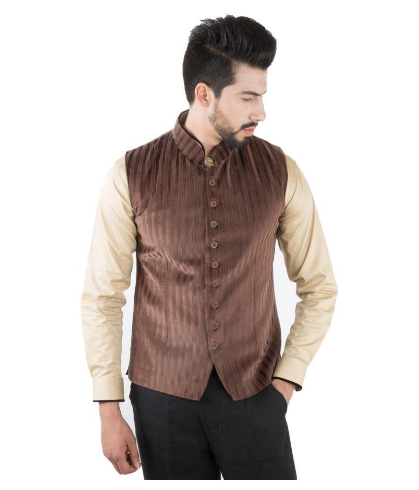 Jahanpanah Brown Wedding Waistcoats
