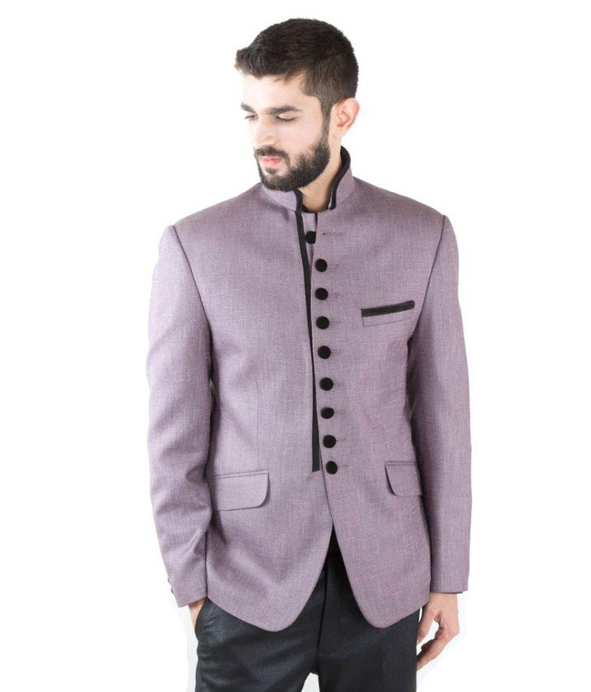 Jahanpanah Purple festive Blazers