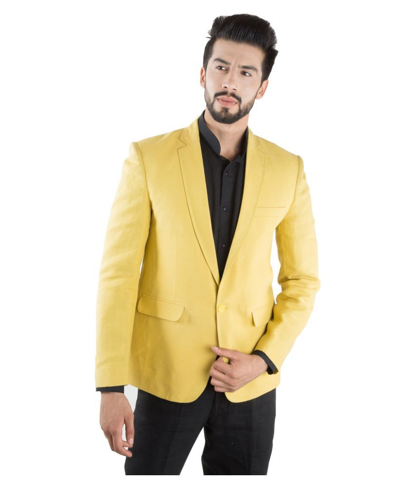 Jahanpanah Yellow Party Blazers