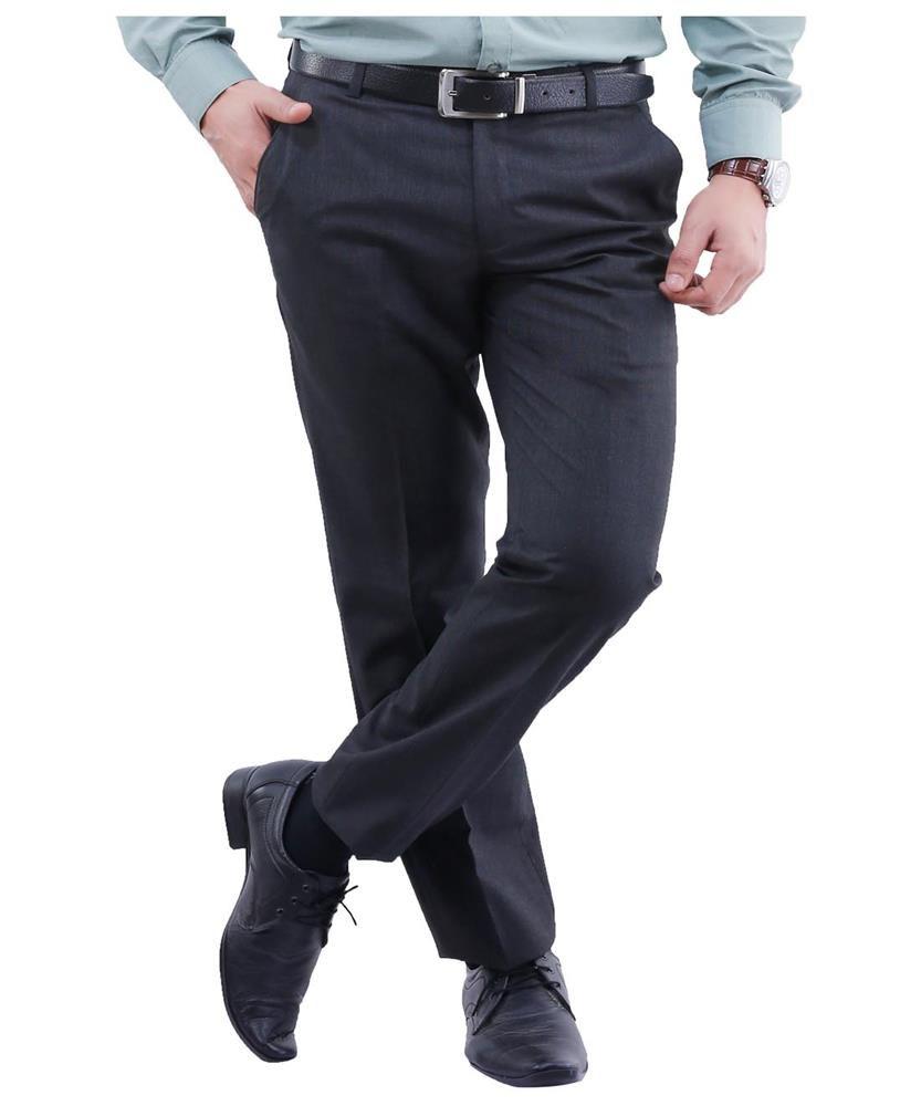 La Mode Black Slim Fit Chinos