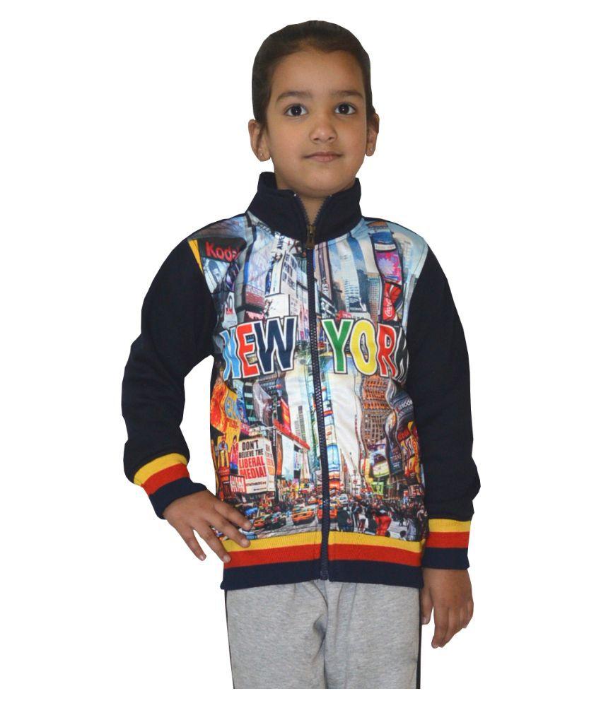 Shaun Multicolour Woolen Sweatshirt for Girls