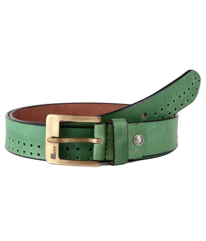 U+N Green Leather Belt