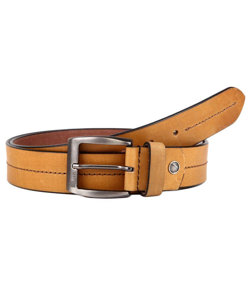 U+N Tan Leather Belt
