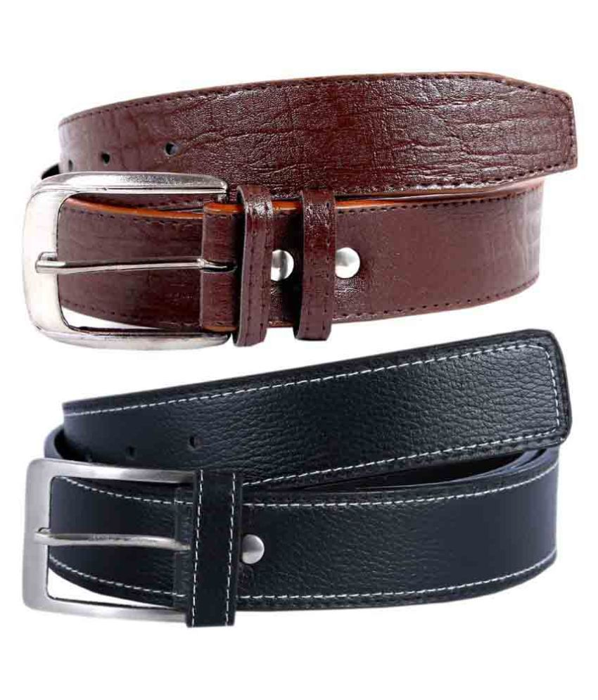 Hardy's Collection Multicolor Non Leather Belts - Pack of 2