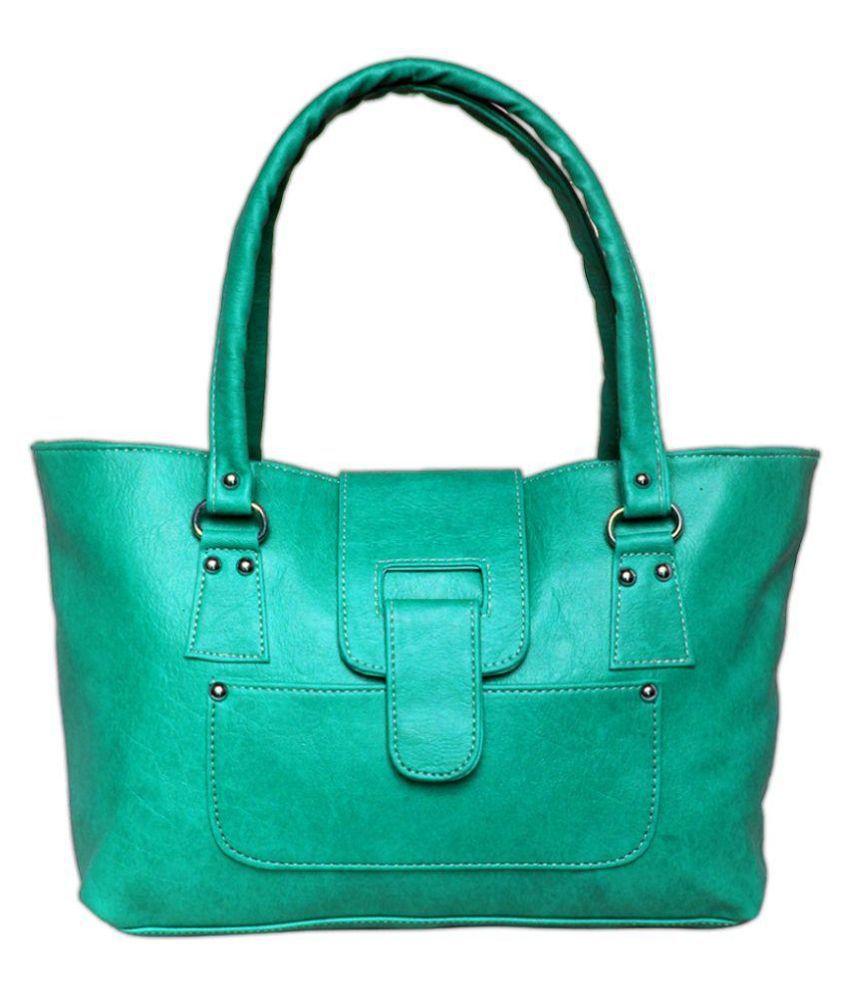 Kalki Green Synthetic Shoulder Bag