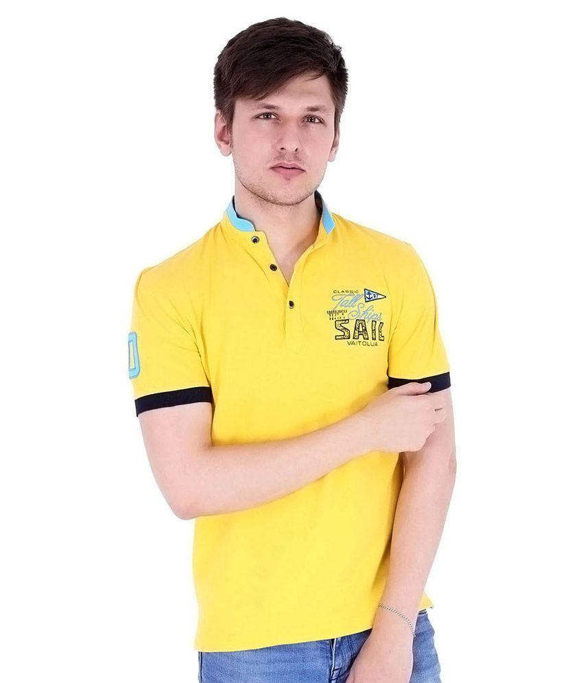 Vaitolua Yellow Round T Shirt