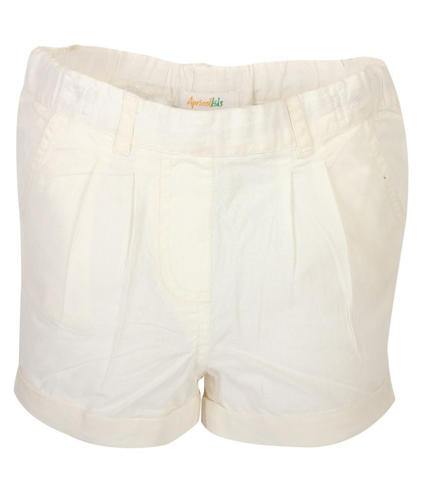 Apricot Kids White Shorts for Girls