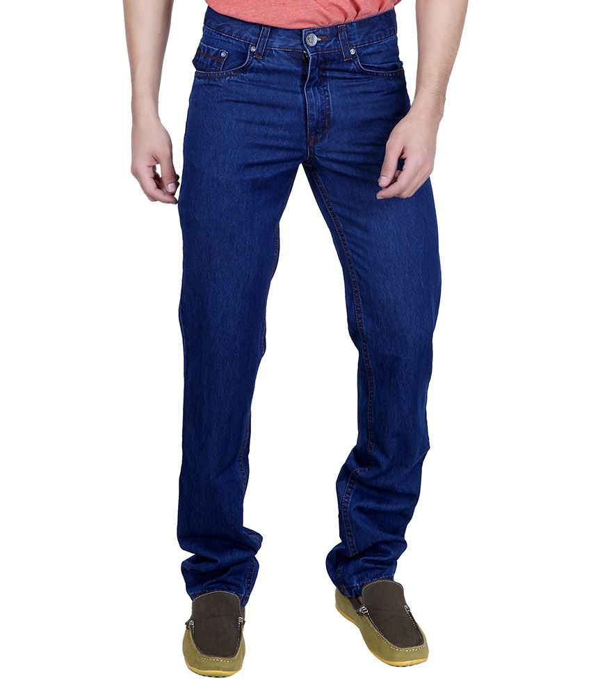 Puff Blue Regular Fit Washed Jeans