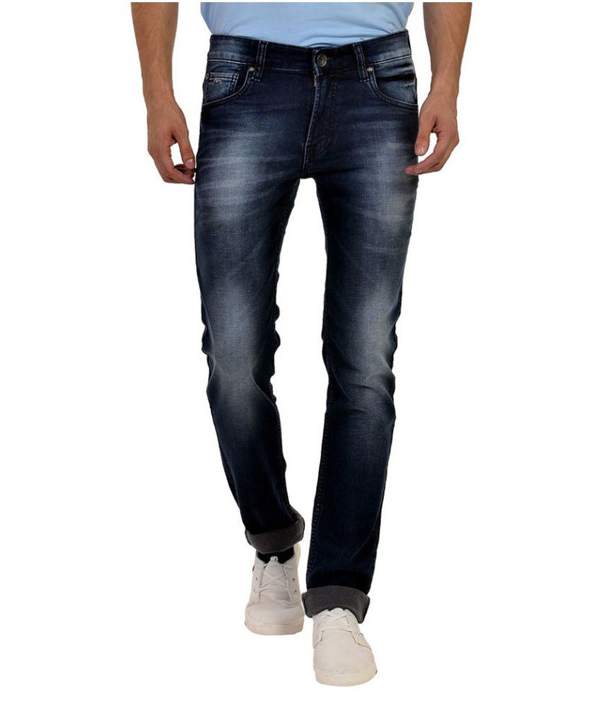 Wert Jeans Navy Narrow Fit Faded Jeans