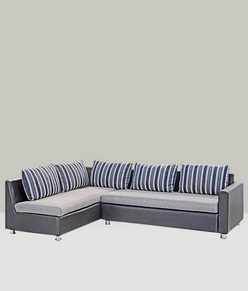 Charmant Wood Mark L Shape 2+2 Sofa Set ...