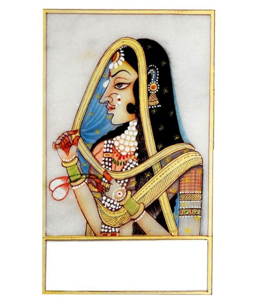 JS Jalwal Bani Thani Metal Hand Paintings Without Frame Single Piece