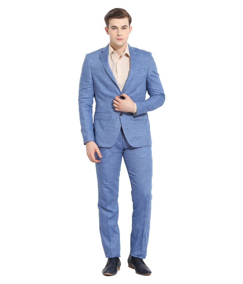 Envoy Blue Casual Suits