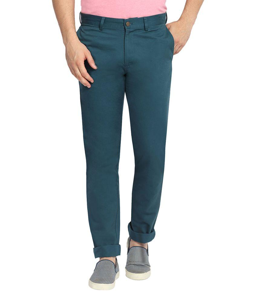SUITLTD Green Slim Fit Twill Chino Pants