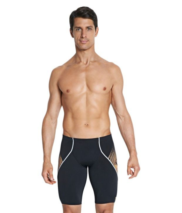 Speedo Black Fit V Jammers Men Swimwear/ Swimming Costume