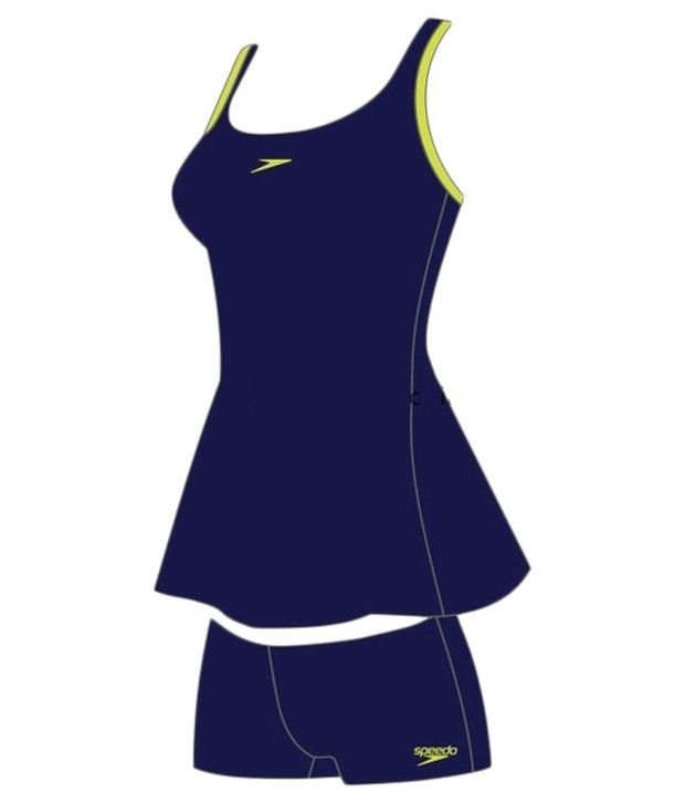 Speedo Blue Racer - Back Swim Dress/ Swimming Costume
