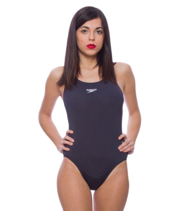 Speedo Navy Lycra Racer Swimsuit/ Swimming Costume
