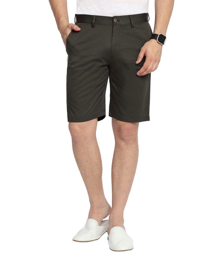 SUITLTD Olive Slim Fit Twill Chino Shorts