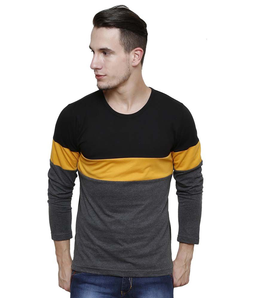 Men's T-Shirts online T-shirts for men are the second most important pieces in the wardrobe while the first being denims. Even a well fitted, basic t-shirt elevates any outfit.