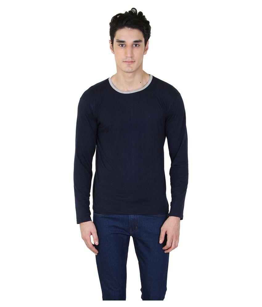 BI Fashion Navy Round T Shirt
