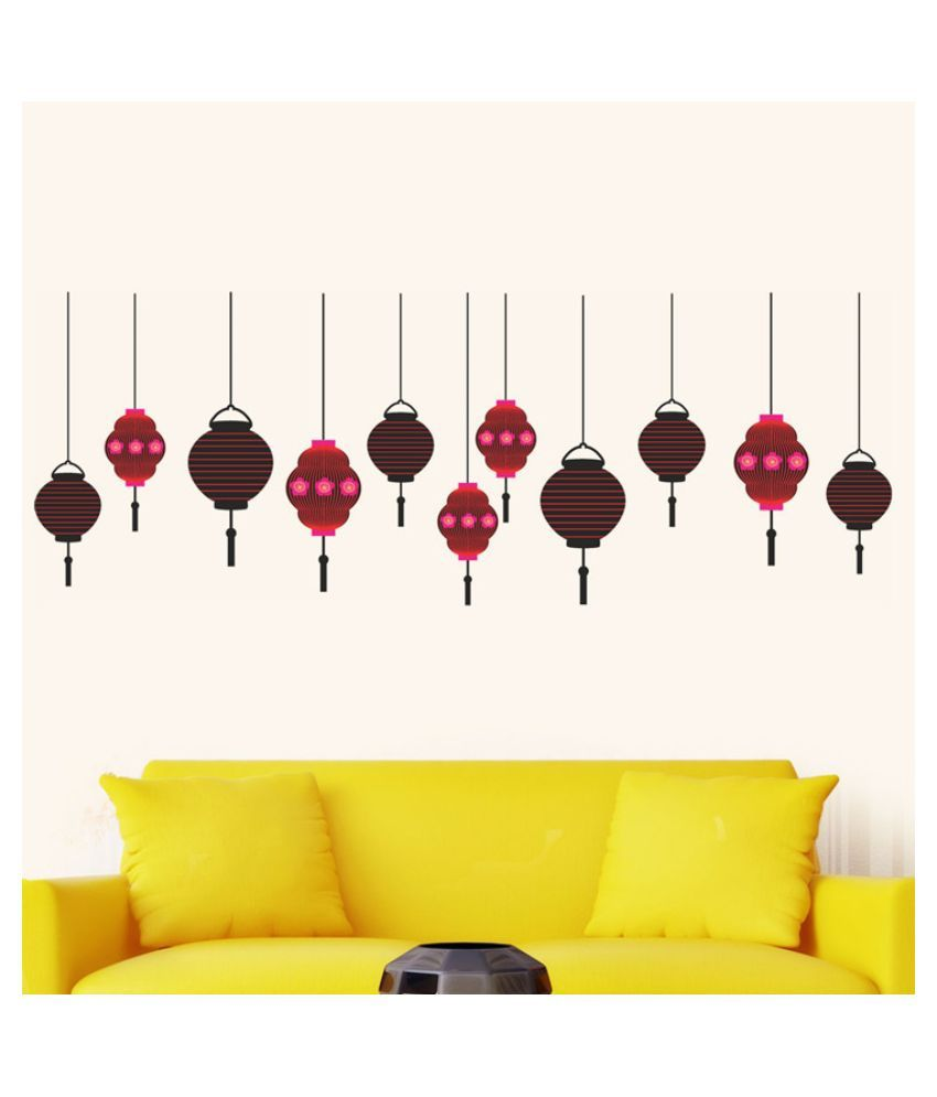 Wall Lamps Flipkart : Wall Dreams Chinese Lamps Poly Vinyl Wall Stickers available at SnapDeal for Rs.266
