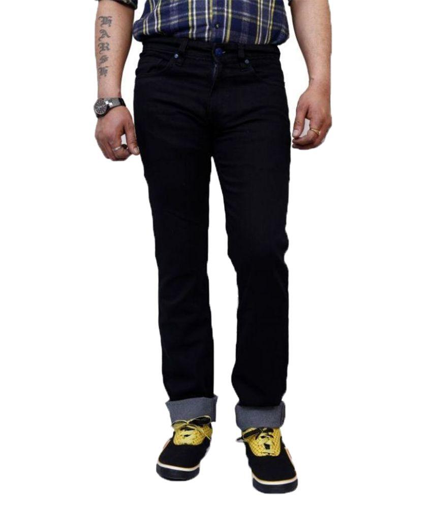 SuperX Black Skinny Fit Solid Jeans