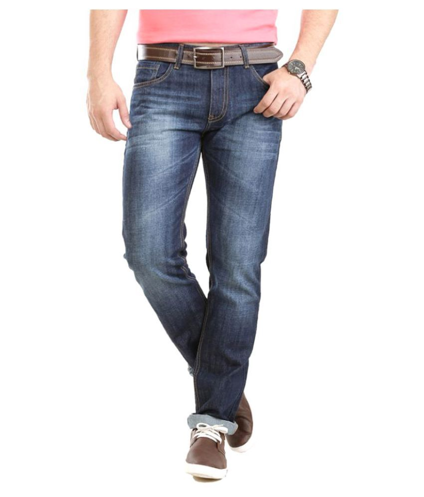 Vudu Blue Slim Fit Solid Jeans