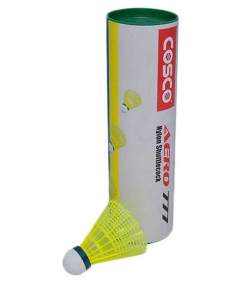 Cosco Aero 777 Green Shuttle Cock   Pack of 6