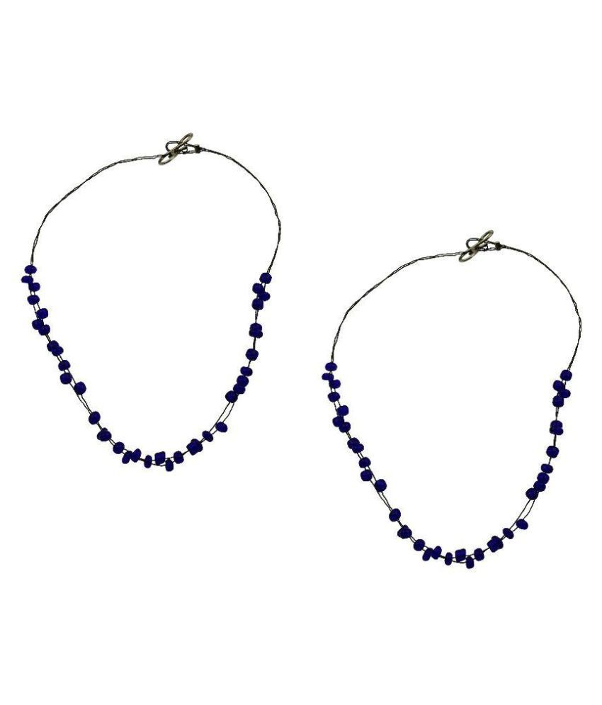 High Trendz Blue Pair of Anklets