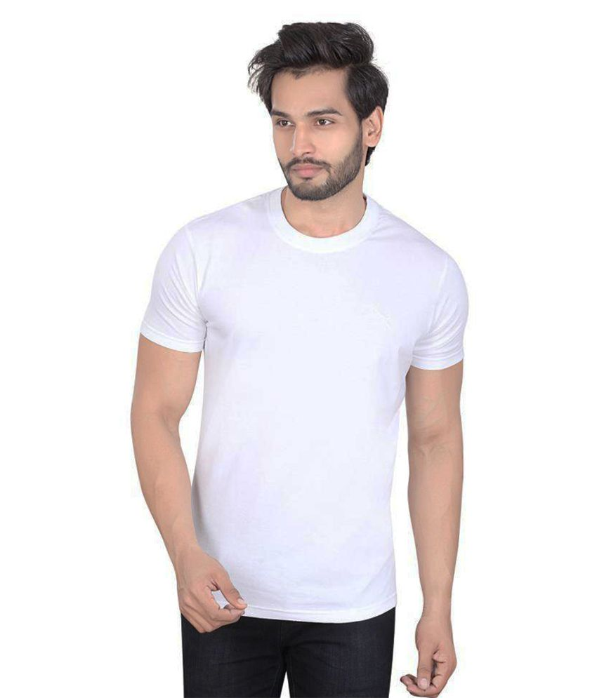 LUCfashion White Round T Shirt