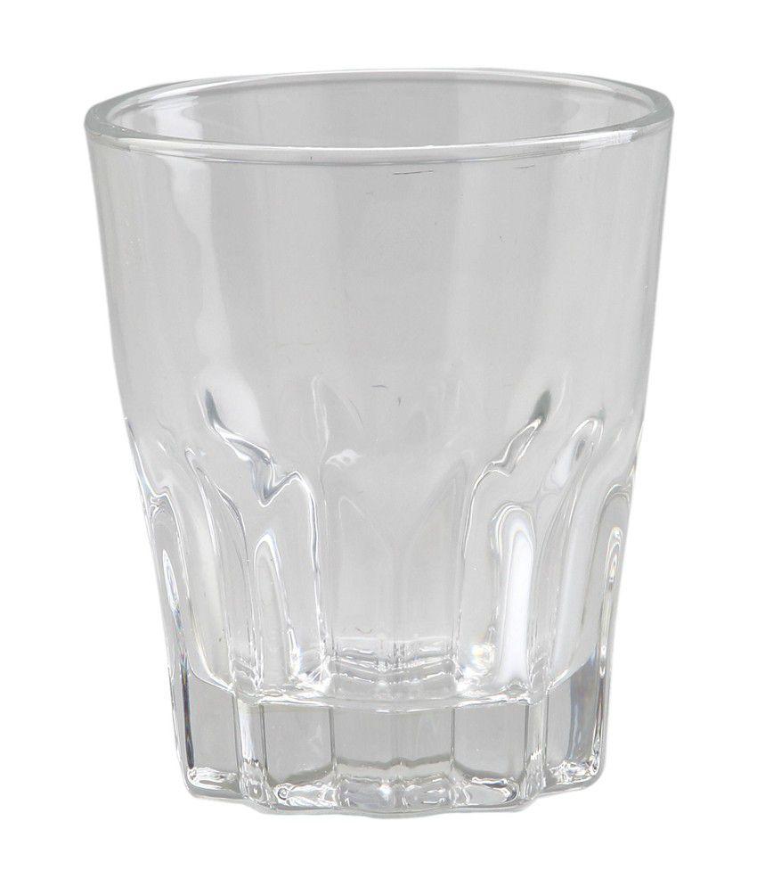 @Home By Nilkamal Glass Beverage Tumbler - Set of 6