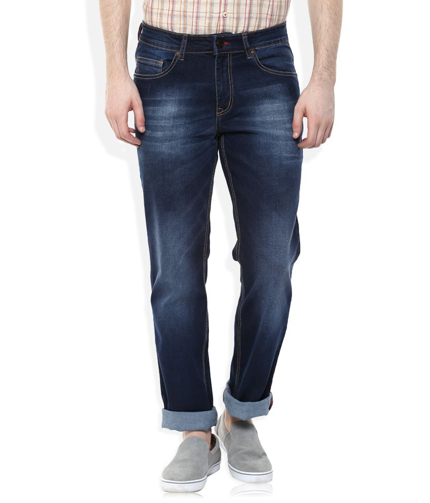 Lee Cooper Blue Relaxed Faded