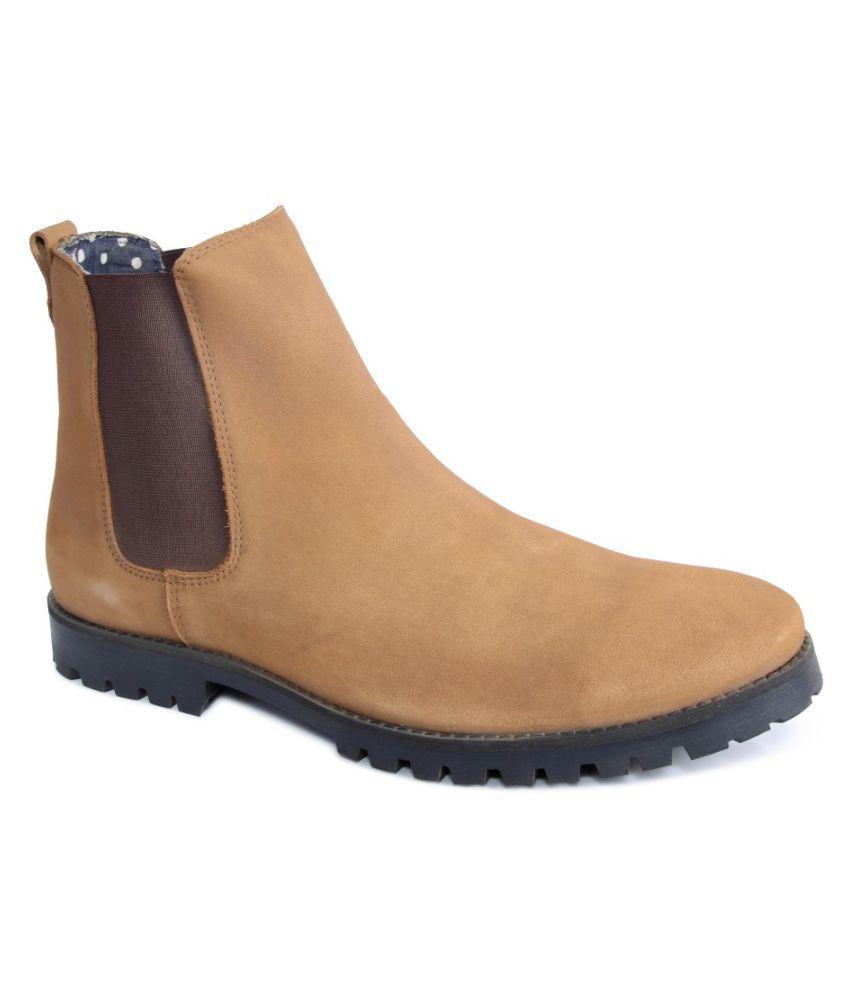 Monkx Tan Boots