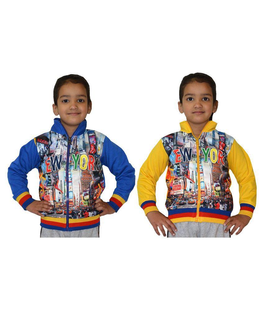 Shaun Multicolor Wollen Sweatshirts - Set of 2