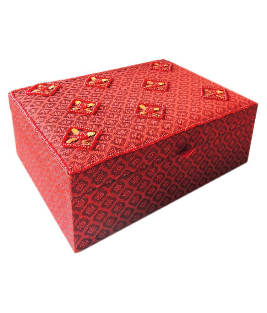 The Decor Mart Red Jewellery Box