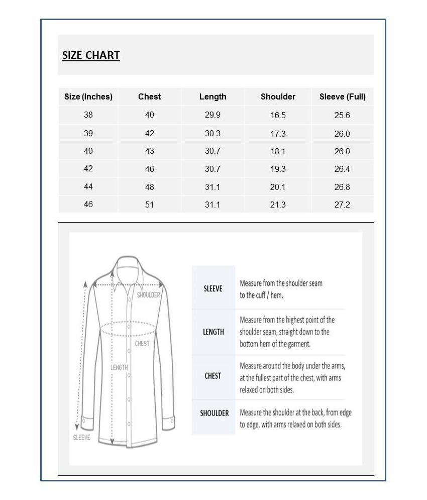 Formal Shoes Size Chart