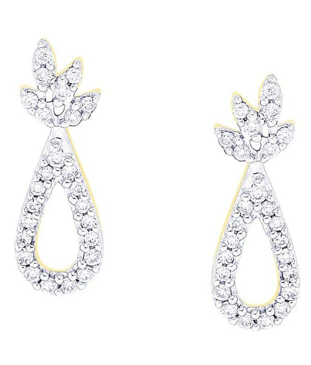 Asmi 18kt BIS Hallmarked Yellow Gold Diamond Studs