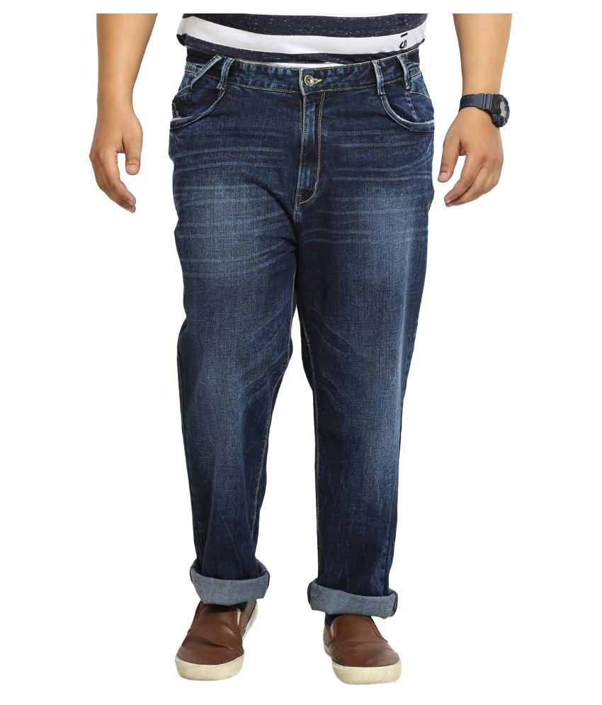 John Pride Blue Regular Fit Solid Jeans