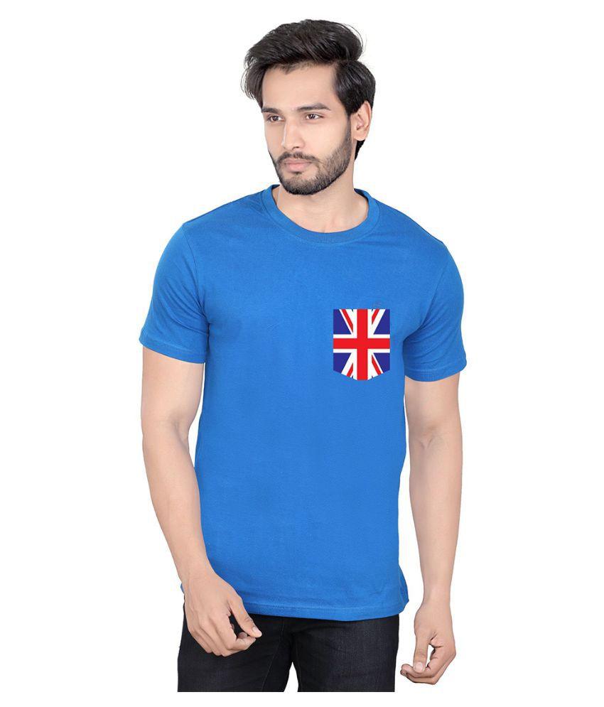 LUCfashion Blue Round T Shirt Single