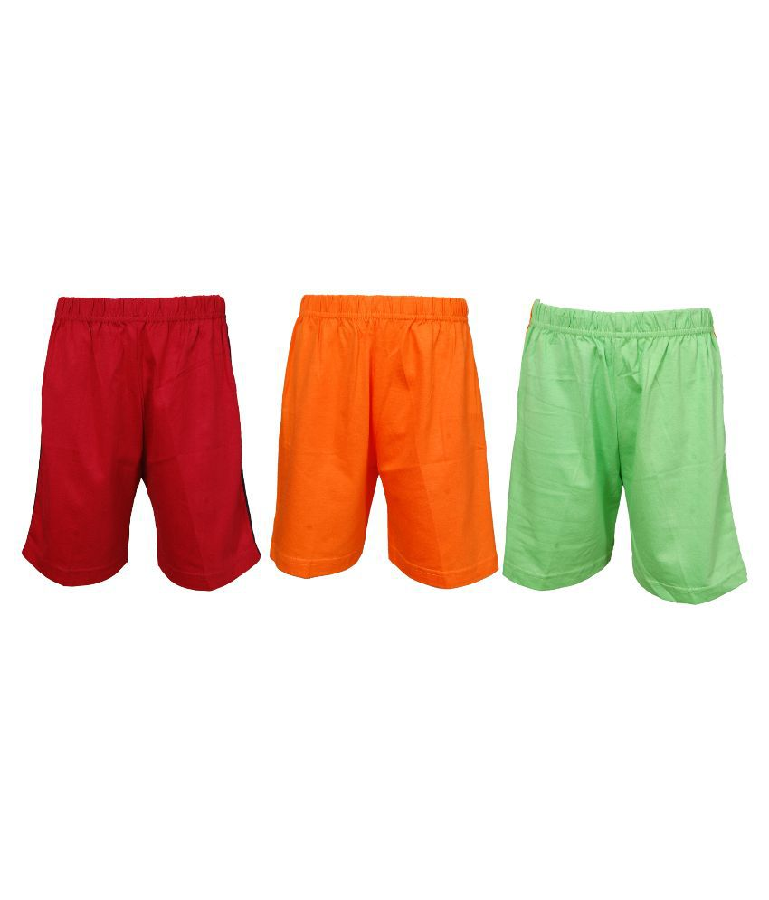 Little Stars Multicolour Cotton Shorts - Pack of 3