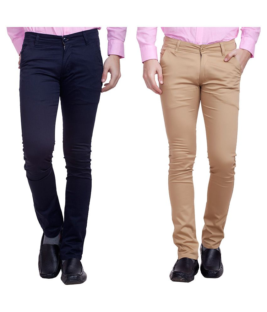 Nimegh Multi Slim Fit Chinos Pack of 2