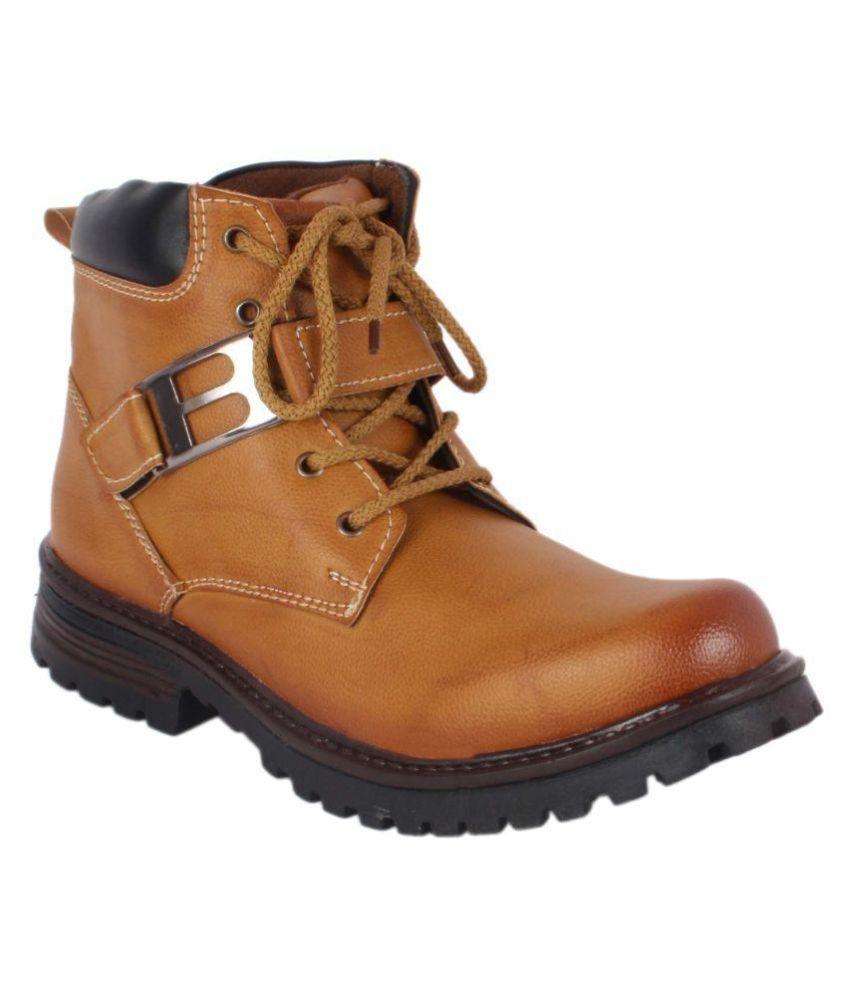 ShoeAdda Brown Casual Boot