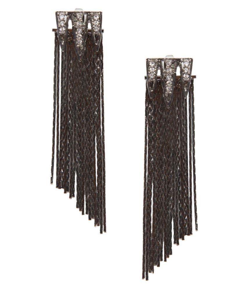 Stol'n Black Hanging Earrings